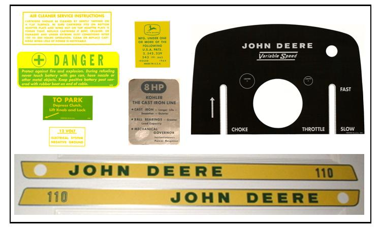 John Deere 110 John Deere Tractor Forum GTtalk Part 67  sc 1 st  thronefield.com : john deere decals for walls - www.pureclipart.com