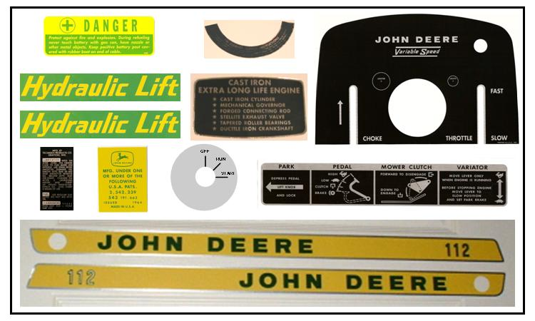 john deere 112 service manual