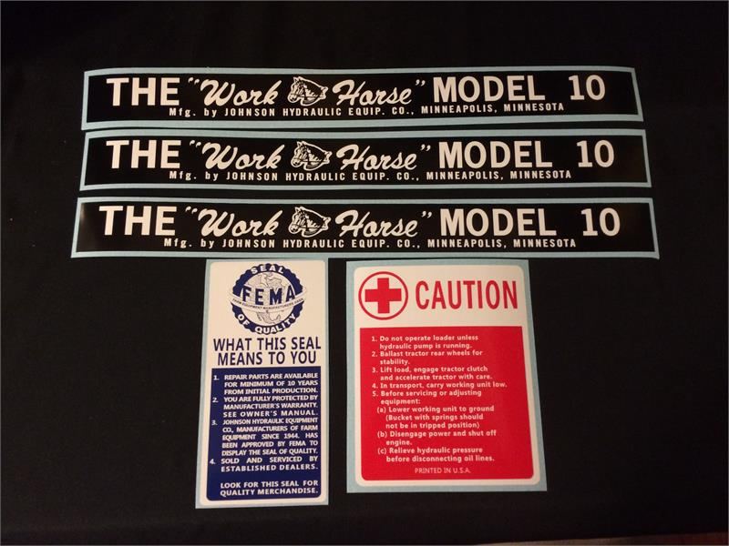 Johnson Loader Decal Set